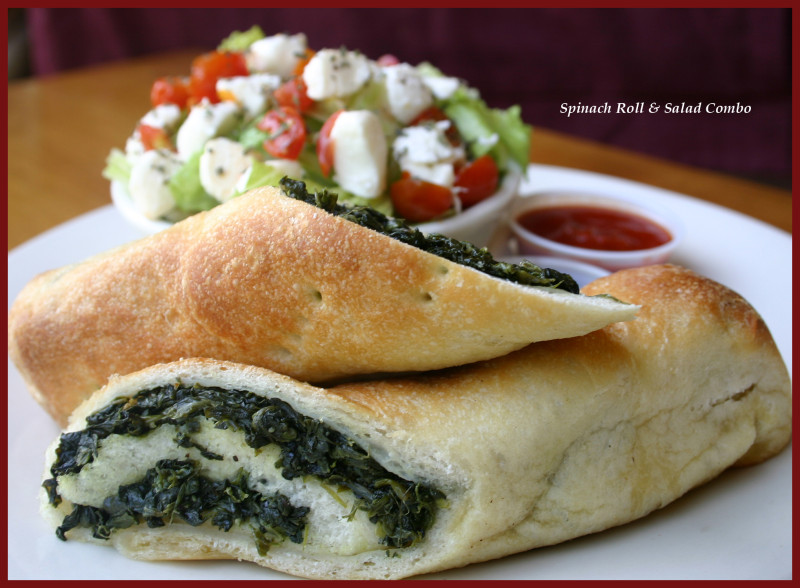 Mangino's Spinach Roll & Salad Combo